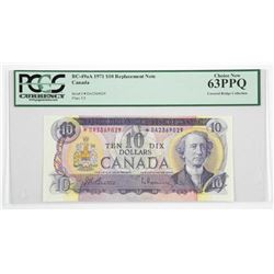Bank of Canada 1971 Ten Dollar Note * Replacement