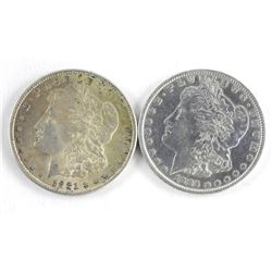 Lot (2) USA Morgan Dollars 1885-1921