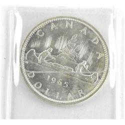 1965 Canada Silver Dollar. Type V.