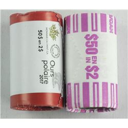 Lot (2) Original Wrap Rolls - RCM 2017 'Glow in th