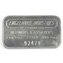 Engelhard 1oz .999 Fine Silver Bar