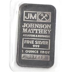 JM - .9999 Fine Silver Bar with TD Bank Logo on Re