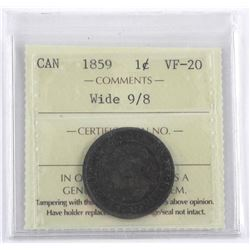 1859 Canada one Cent. ICCS. VF-20