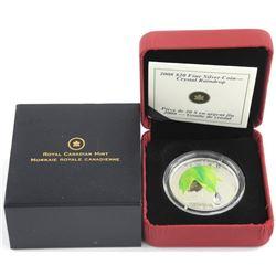 2008 .9999 Fine Silver $20.00 Crystal Raindrop LE/