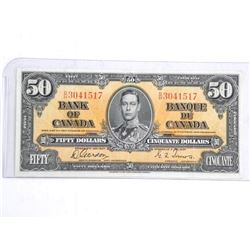 Bank of Canada 1937 Fifty Dollar. G/T