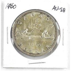1960 Canada Silver Dollar. AU-58