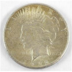 1922 US Silver Peace Dollar.