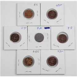 Lot (7) Canada 1 cent Estate 1953,1962,1974.