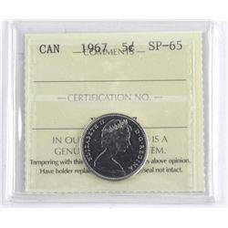 Canada Five Cents SP-65 ICCS