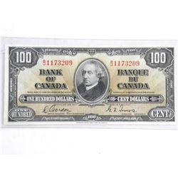 Bank of Canada 1937 100.00 Note. G/T