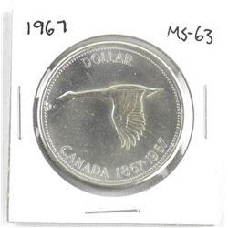 1967 Canada Silver Dollar. MS-63