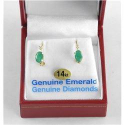 (BB09) Ladies 14kt Gold Fancy Ring Earrings Two Ov