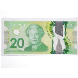 Bank of Canada 2012 - Twenty Dollar Note. RADAR. 3