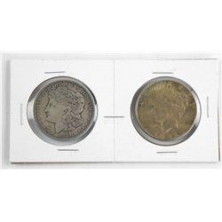Lot (2) USA Silver Dollars. 1921-1922