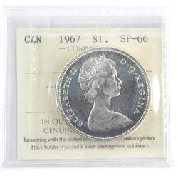 Canada 1967 Silver Dollar SP-66 (ICCS)