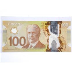 Bank of Canada 2011 - One Hundred Dollar Note. Ser