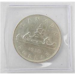1938 Canada Silver Dollar. Key Date