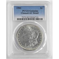 1901 Silver US Morgan Dollar. PCGS Genuine.