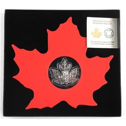 2015 .9999 Fine Silver $20.00 Coin 'Colourful Mapl