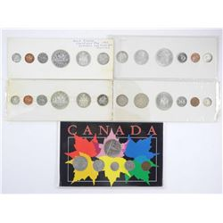 Lot (5) Canada Year Sets: 1939, 1962, 1963, 1964,