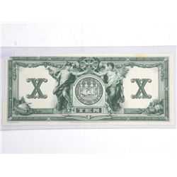 Engravers Proof Bank of Commerce Reverse 10.00
