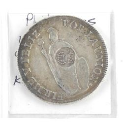 Philippines 1833 - 8 Reales Countermark on 'PERU'