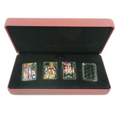 2009 4-Coin Set. .925 Sterling Silver 15.00 Playin