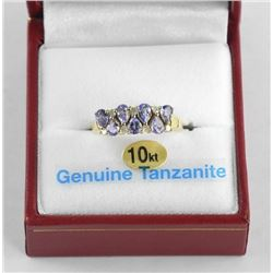 (BB32) Ladies 10kt Gold Diamond and Tanzanite Ring