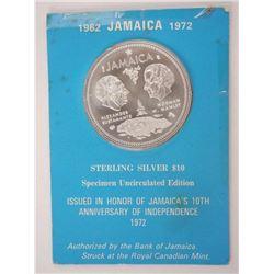 1962 Jamaica 10.00 Specimen UNC Sterling Silver 1.
