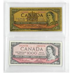 Bank of Canada 1954 One Thousand Dollar Note. L/B