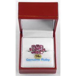 (BB50) Ladies 14kt Gold Custom Ring 10 Natural Rub