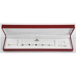 (BB15) Ladies 14kt Gold Custom Bracelet, 12 Sapphi
