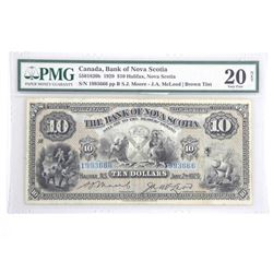 Canada Bank of Nova Scotia 1929 Ten Dollar Note. H