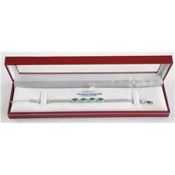 (BB11) 925 Silver Custom Bracelet, 4 Marquise Cut