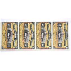 Rare Uncut Sheet 5 Notes EL BANCO CUBA 5 Pesos May