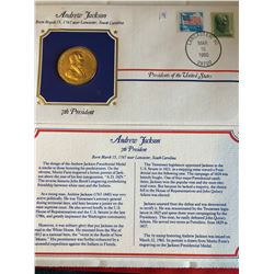President Medals Cover Collection 1990 ANDREW JACKSON with Stamps