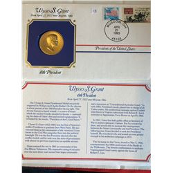 President Medals Cover Collection 1993 ULYSSES S GRANT with Stamps