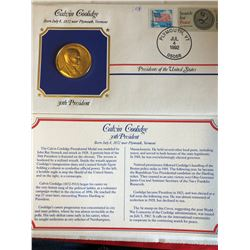 President Medals Cover Collection 1992 CALVIN COOLIDGE with Stamps