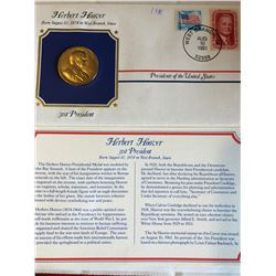 President Medals Cover Collection 1991 HERBERT HOOVER with Stamps