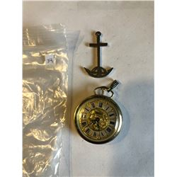 LUCEROSE Pocket Watch and Naval Anchor Pendant all one money
