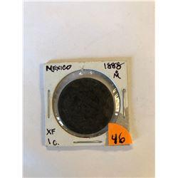 Extremely Rare 1888om Mexico 1 Cent Extra Fine Grade