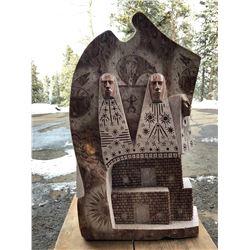 Alabaster Native American Sculpture
