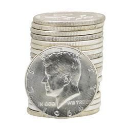 Roll of (20) 1964 Brilliant Uncirculated Kennedy Half Dollars