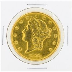 1898-S $20 Liberty Head Double Eagle Gold Coin