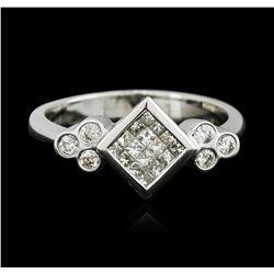 18KT White Gold 0.40 ctw Diamond Ring