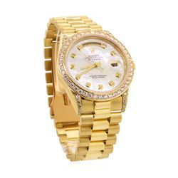 Rolex Men's President Wristwatch - 18KT Yellow Gold