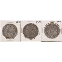 Lot of 1884, 1885 & 1886-O $1 Morgan Silver Dollar Coins