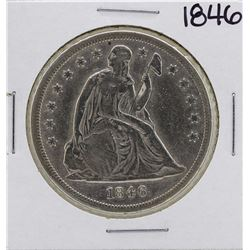 1846 $1 Seated Liberty Silver Dollar Coin