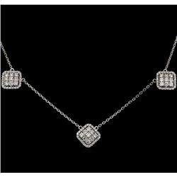 14KT White Gold 1.40 ctw Diamond Necklace