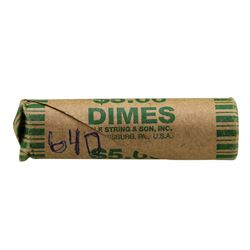 Roll of (50) 1964-D Brilliant Uncirculated Roosevelt Dimes